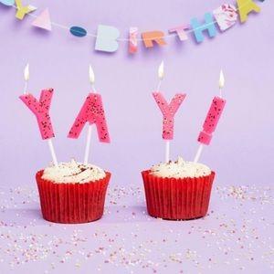Meri Meri YAY! Birthday Candles